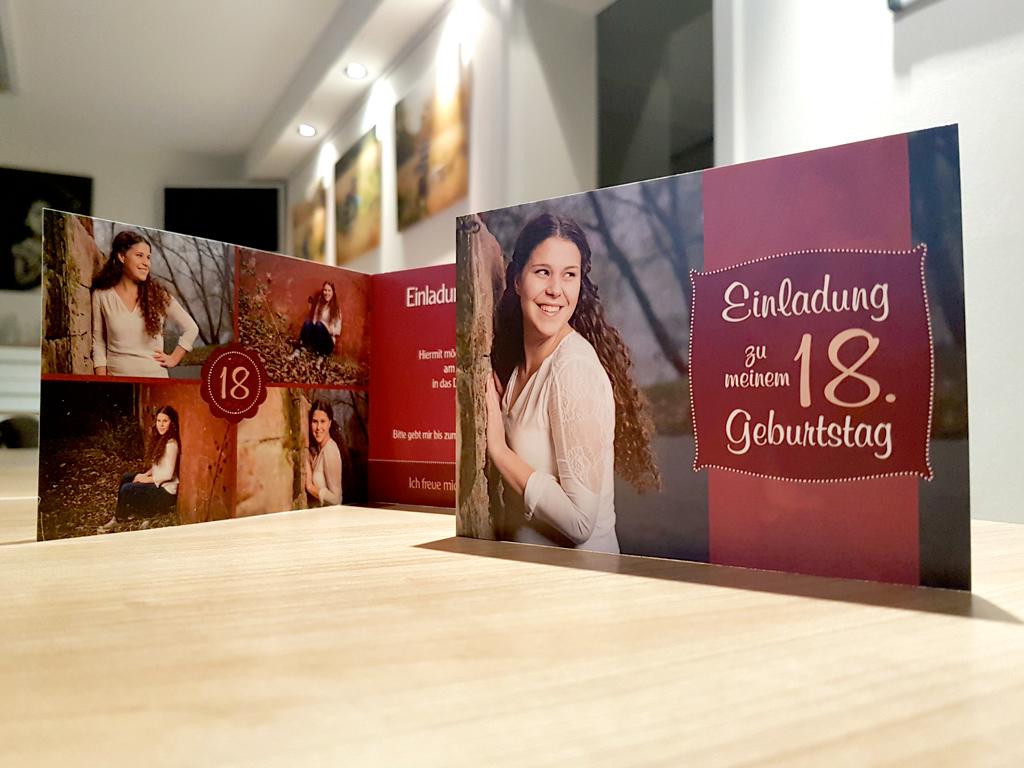 Wunderschöne Portraits Für Die Einladungskarte Zum 18. Geburtstag
