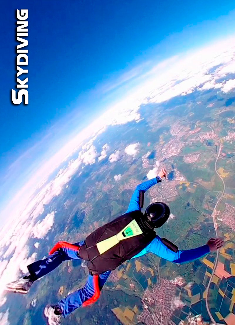 slider foto skydiving