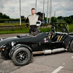 Lotus Seven replika and its owner at Kinnekulle Ring - Fotograf Peter Lindberg