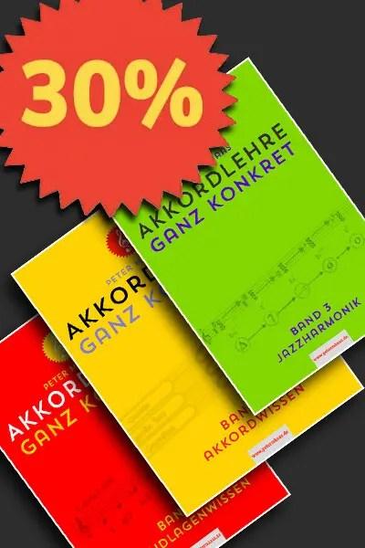 Angebot-drei Bände Akkordlehre von Peter M Haas
