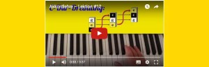 Akkordlehre Videobild mit YouTube Startpfeil