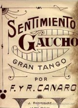 Notenblatt Titel Sentimiento Gaucho
