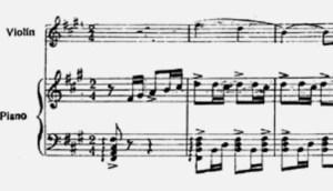 Notenbild: Tango schreibt man im 2/4-Takt!