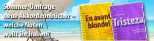 Sommerumfrage: Neue Akkordeon-Spielbücher von Peter M. Haas