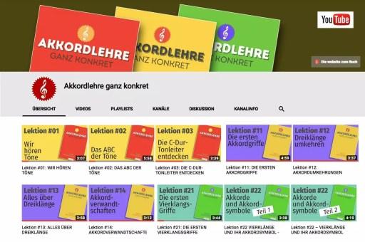 Videos auf dem YouTube-Kanal Akkordlehre ganz konkret