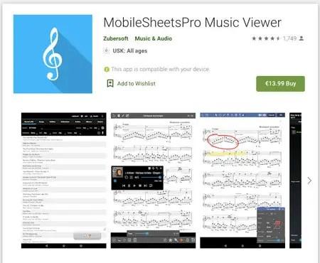 MobileSheetsPro für Android
