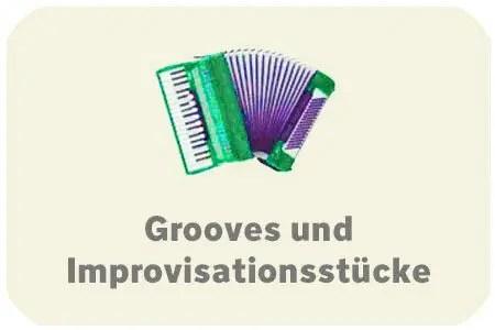Auswahlbutten Grooves und Improvisationsstücke