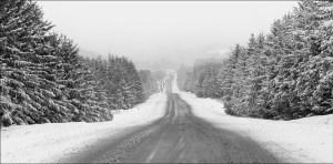 Route 100 in Eden Vermont