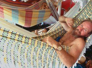Dad in a hammock, Amazon River