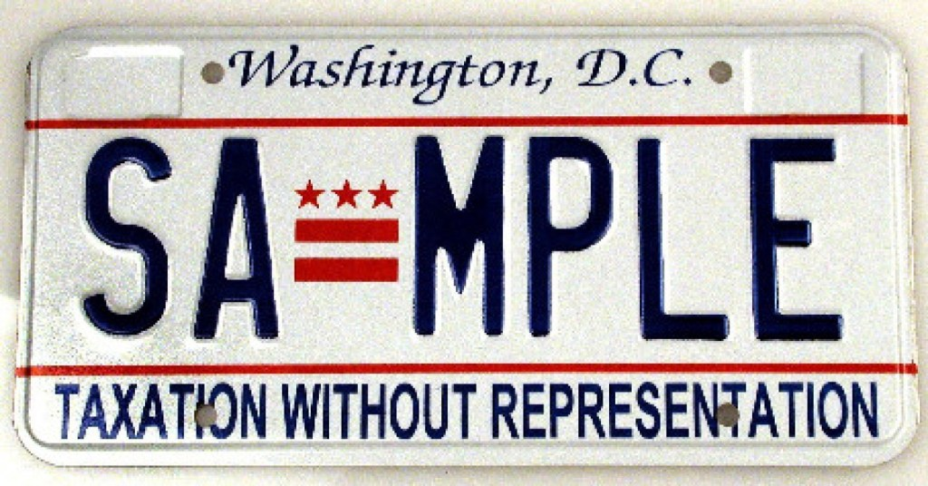 DC License Plate