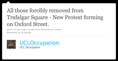 New Protest Forming on Oxford Street