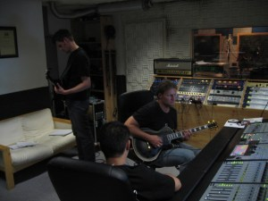 """In studio with Mafuba for """"Nothing Comes To An End""""."""