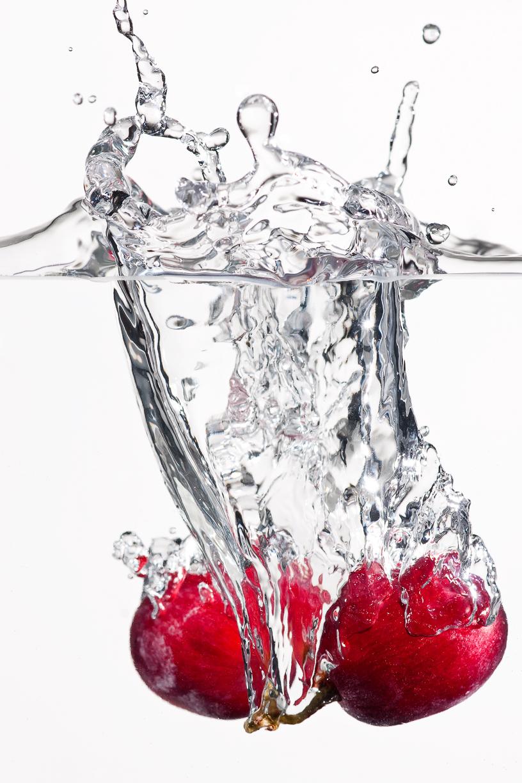 Druif, water, splons, waterbak, vloeibare