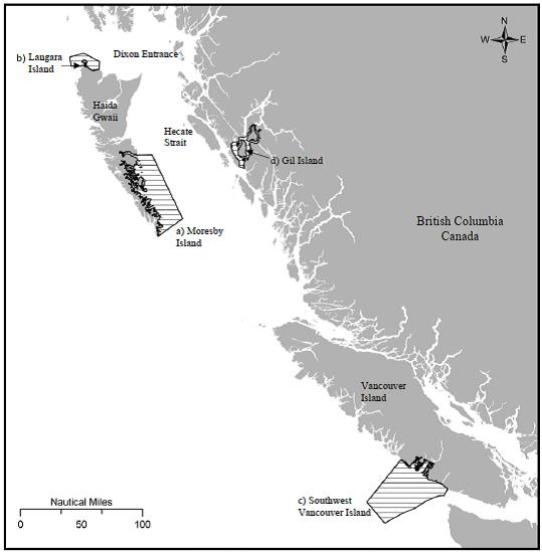 Humpback critical habitat from recovery plan