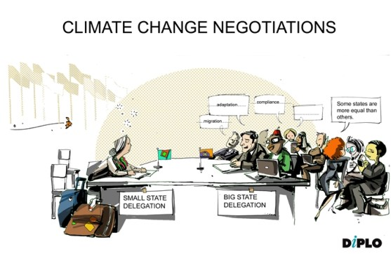 climate negotiations small
