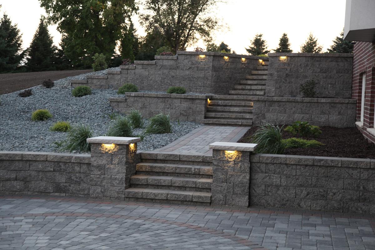 Retaining Walls - Wall Blocks - Retaining Wall Designs ... on Patio Stone Wall Ideas  id=52423