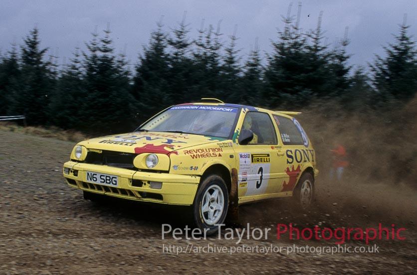 Alister McRae / David Senior – SBG Sport. VW Golf GTi.