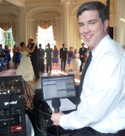 Peter DJ'ing a Wedding