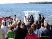 Outdoor ceremony at Borio's Lakeside in Cicero, 5/5/12