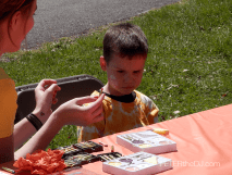 Many kids enjoyed getting their faces painted.