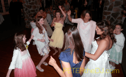 Dancing the night away at Kelly and Nicholas' wedding reception at Dibbles Inn.