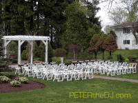 Outdoor ceremony area.
