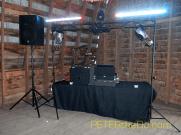 DJ setup for the barn reception