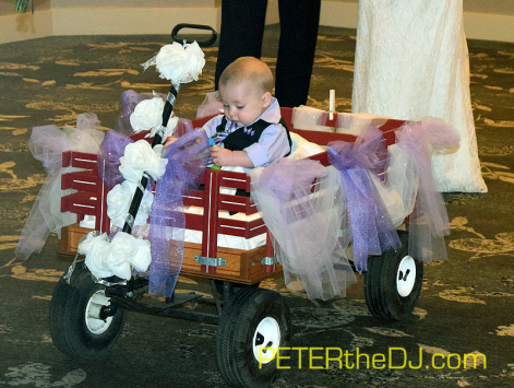 Emily and Adam's son is ready to roll down the aisle!
