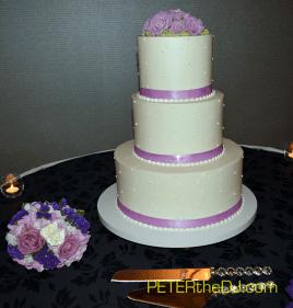 Emily and Adam's wedding cake