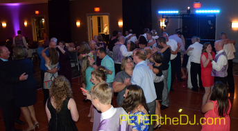 Guests dance the night away at Emily and Adam's reception, 8/1/15
