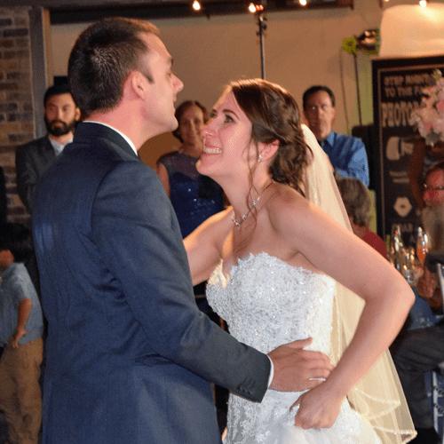 Wedding: Kate and Brendan at SKY Armory, Syracuse, 7/16/16