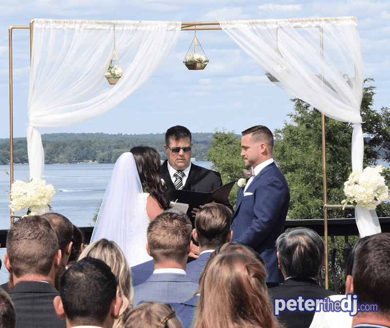 Amy and Michael get married with the St. Lawrence River and the Thousand Islands as a backdrop on a beautiful day.