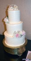 Wedding cake at Andrea and Larry's wedding reception at Turning Stone, Verona, NY