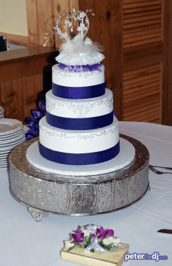 Cake: Kathy and Duncan's 25th wedding anniversary at Drumlins, Syracuse