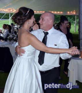 Christina and Philipp's wedding reception at Benn Conger Inn, Groton, NY. August 2018.