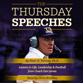 The audiobook is available now. Check out the author's page at http://www.audible.com/pd/Sports/The-Thursday-Speeches-Audiobook/B0187ZOIMK