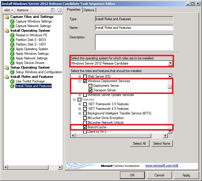 Deploying Windows Server 2012 including Roles and Features with