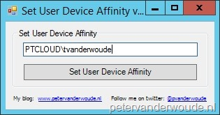 Different methods to set the User Device Affinity for usage