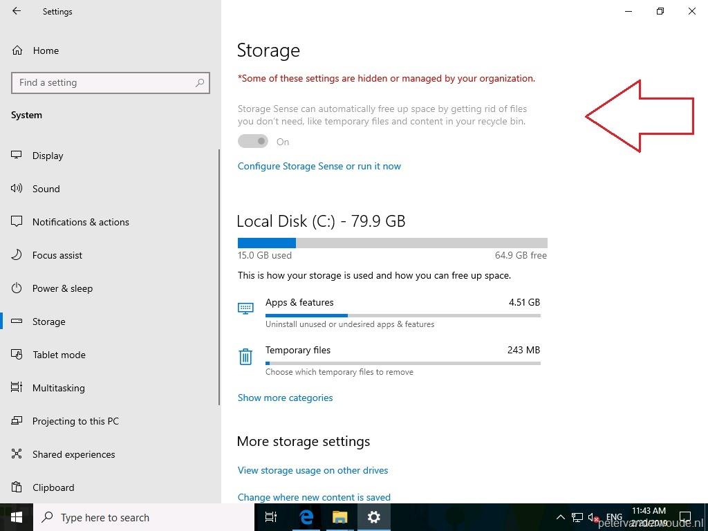 Configure storage sense via Windows 10 MDM – More than just