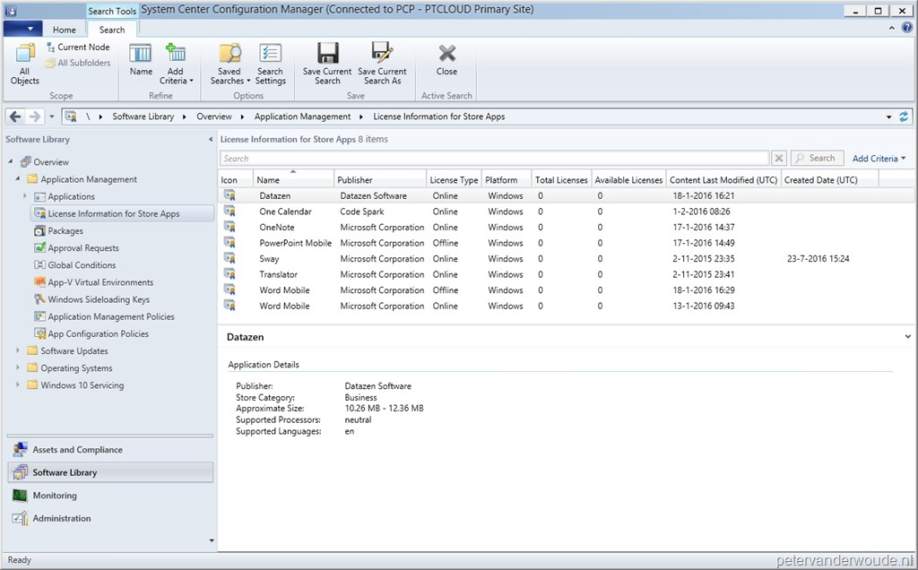 Windows Store for Business synchronized with ConfigMgr – More than