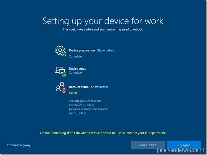 Windows-enrollment-status-page_Failure