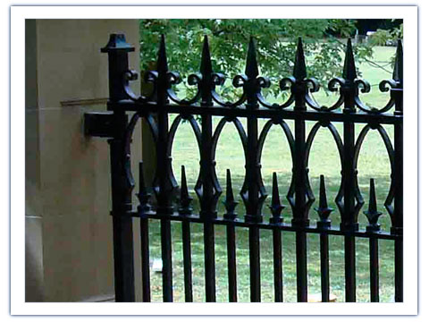 Iron Gates Gothic Wrought Iron Gates