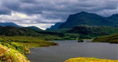 Fisherfield mountains & Loch Kernsary