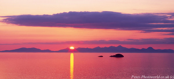 Sunset over the Isle of Harris