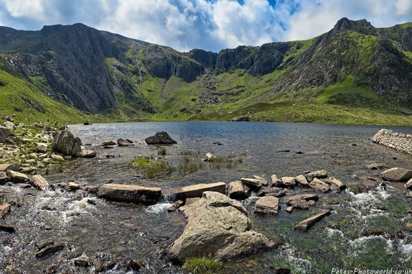 Panorama view of Llyn Idwal