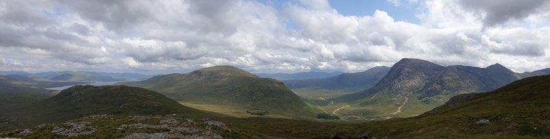 Looking from Stob Mhic Mhartuin towards Beinn a Chrulaiste, Beinn Beag & Buchaille Etive Mor (Great Shephard of Etive)