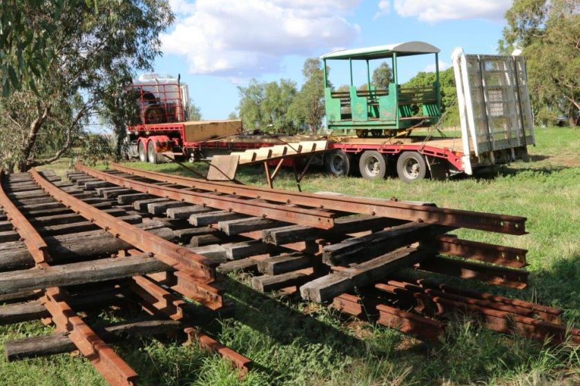 2016-0479: Carriage 2 loaded at Junee, preparatory for movement to Goulburn.