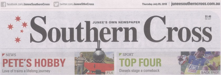 Junee Southern Cross Cover, July 5, 2018