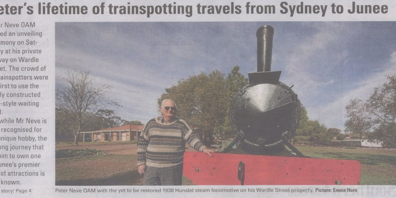 Peter's lifetime of transporting travels from Sydney to Junee Junee Southern Cross Cover, July 5, 2018