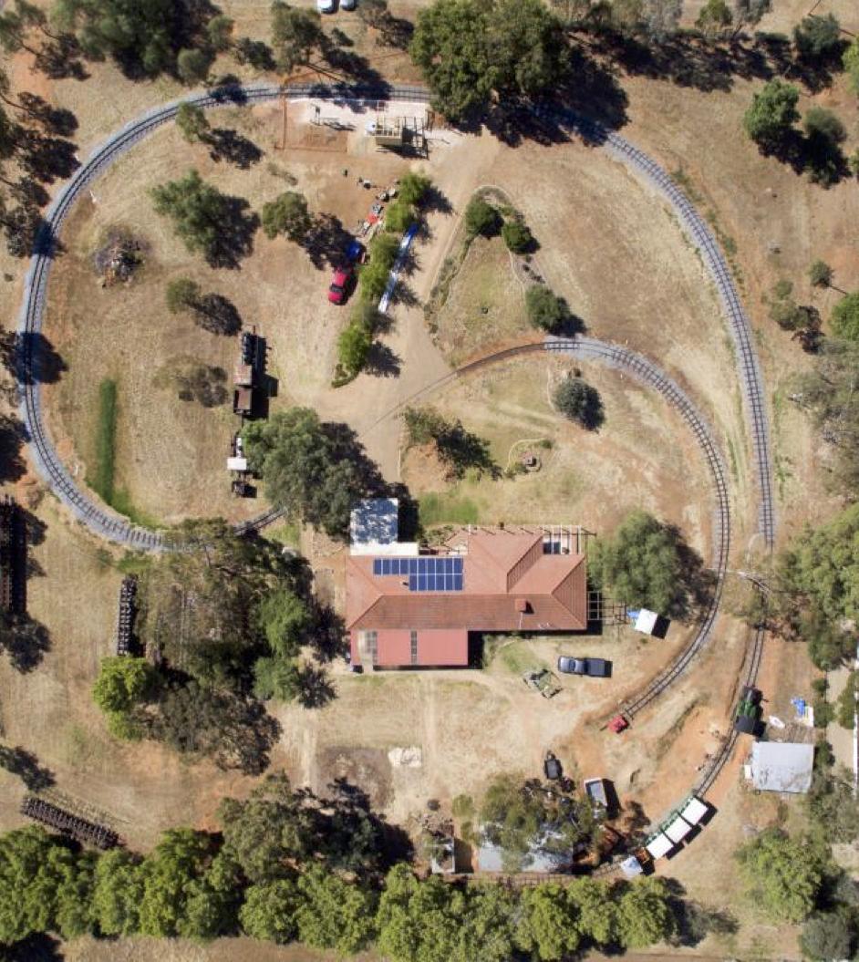 Aerial view of Pete's Hobby Railway by Scott Kirkwood